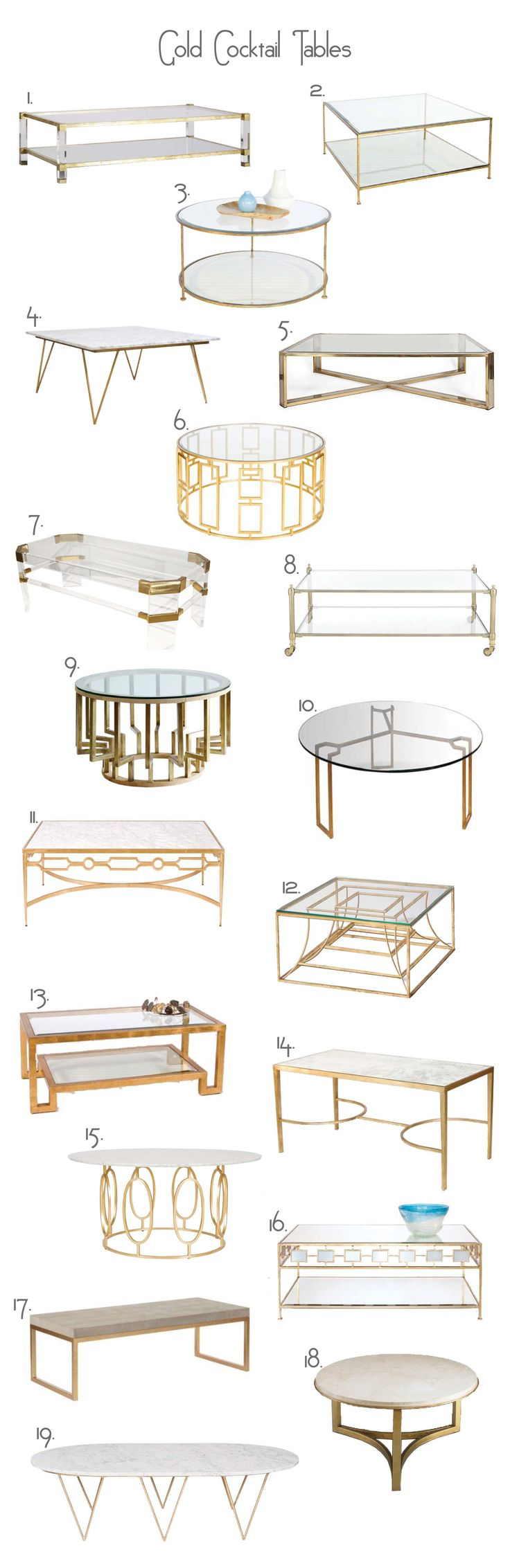 Harrison Coffee Table 2 Quadro Gold Leaf Square Coffee Table 3 Rollo