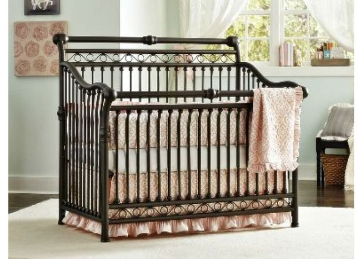Amazing Metal Baby Crib Placed In Baby Nursery Room Sturdy Metal Baby Cribs For Nursery Check more at http://www.wearefound.com/sturdy-metal-baby-cribs-for-nursery/