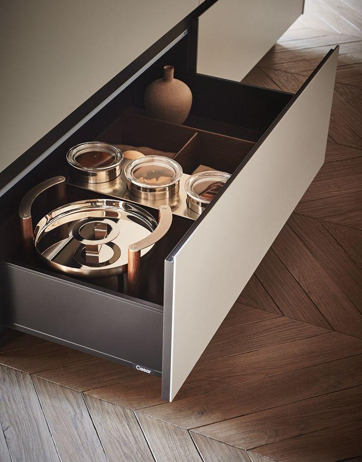 Fitted kitchen with island MAXIMA 2.2 - COMPOSITION 1 by Cesar Arredamenti design Gian Vittorio Plazzogna