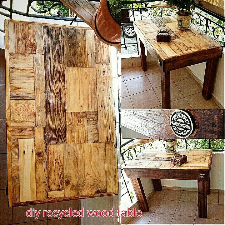 diy recycled wood table