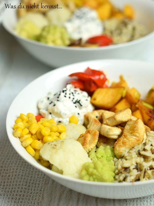Eine Buddha Bowl mit Reis ist schnell zubereitet, gesund und zudem lecker. Und ein Augenschmaus schlechthin, meint ihr nicht auch?