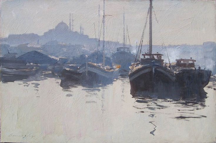 Edward Seago | Fishing Boats on the Golden Horn