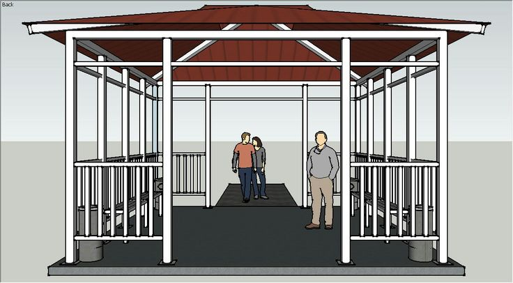 Smoking shelter design using SketchUp #nknproduction