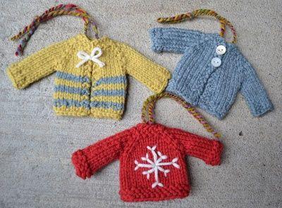 Susan B. Anderson itty bitty sweaters. Pattern $$$