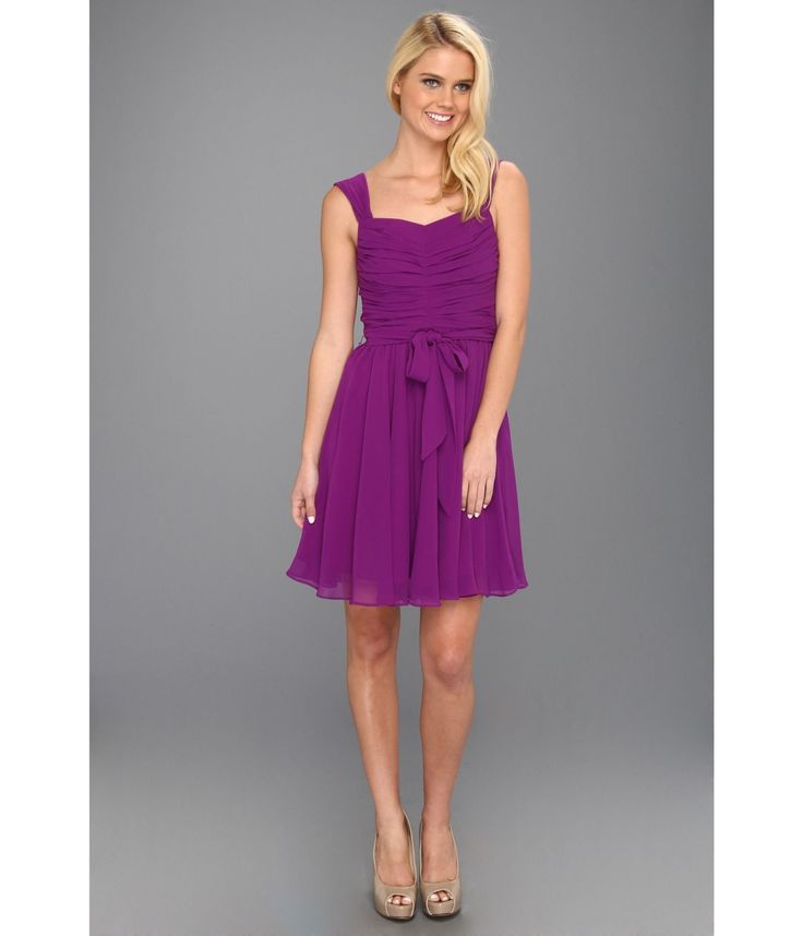 Rochie scurta violet cu volane