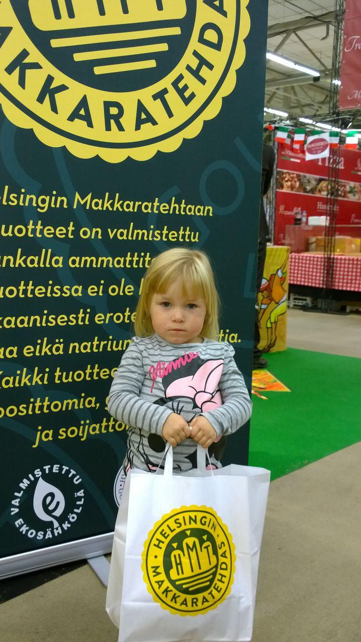 """Turun Ruokamessut 2014, """"Kävin pikkuisen ostoksilla"""", Ilona, 3v."""