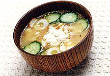 冷や汁:インスタント味噌汁で簡単!お手軽レシピ