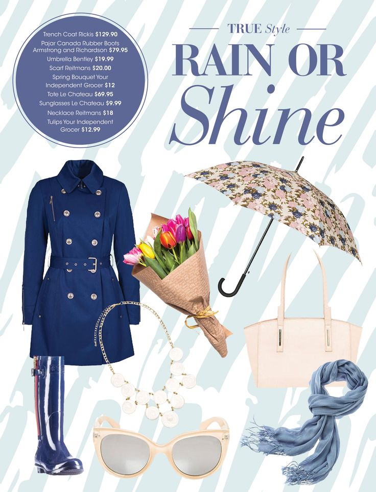 Rain or shine, we like to keep it trendy at Billings Bridge!  Our latest blog post is here and it's filled with some fashion tips that will carry you through the spring season!  Keep calm and read on  :)