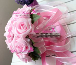 Gelin Çiçeği, gelin buketi, gelin el çiçeği, buket, yapay çiçek, yapma çiçek, fuşya çiçek, evlilik, düğün, aksesuar, hediye, hediyelik, Modern buket, gelin teli, gelin buketçisi, buketçim, buketleri, Pembe