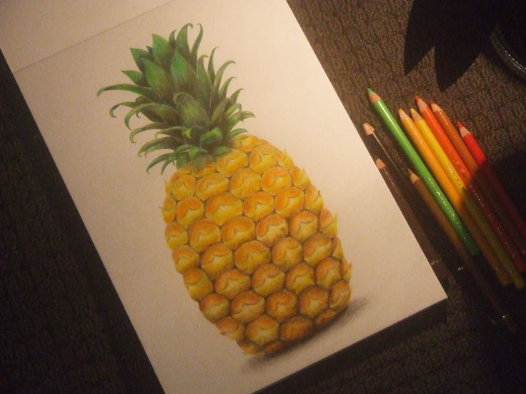Pineapple Time!  |  Medium: Faber Castell Polychromos |  FB: Hayley Robinson Art  |  Instagram: @hayleyrobinsonart