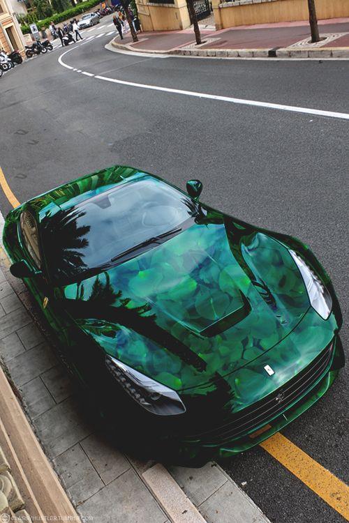classyhustler: Leaf green Berlinetta Ferrari