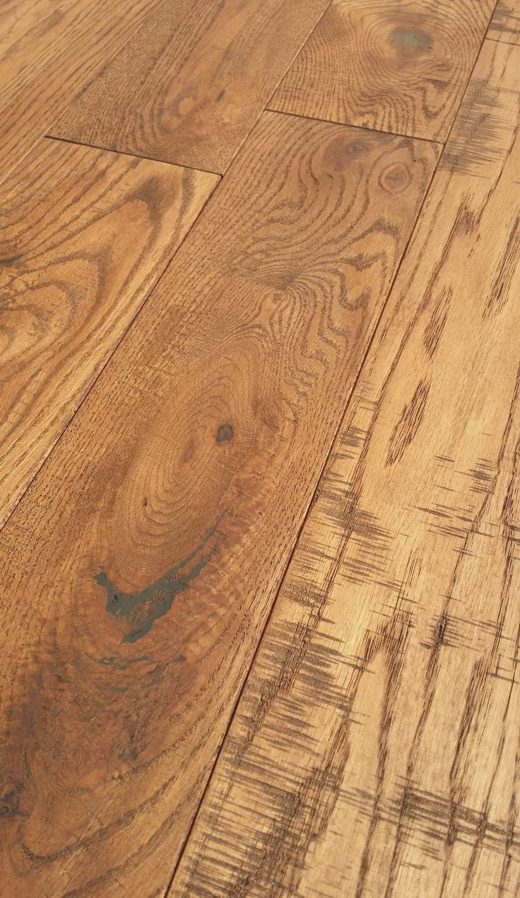 Canadian Made Real Hand Scraped Red Oak Flooring With
