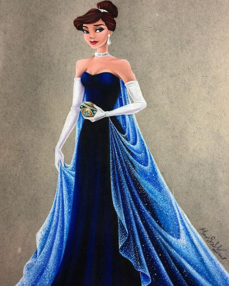 "❄️ Once upon a December ❄️ I love the simplicity of this gown, yet it's so elegant at the same time, definitely my favorite dress from this movie. I'm so happy I ended up only adding ""diamonds"" to the cape and kept the dress itself."