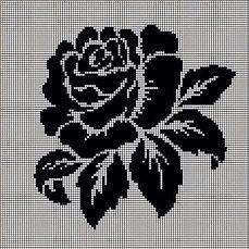 Бесплатные схемы вышивки крестом - черно - белые и монохром | OK.RU