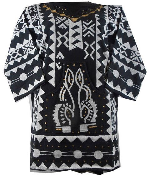 Vintage Men's Dashiki Shirt African Mud cloth Hippie