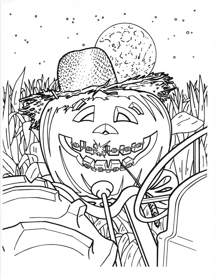 detailed halloween coloring pages - photo#20