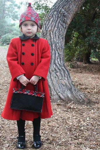 The New York Coat. In red, grey, black, brown, navy, or ivory. Sizes 3 months to 10 years.  |  Buy this and help the underprivileged in Chile.: 3 Months, New York Girls, York Coats, Girls Dresses, Elegant Clothing, Kids Clothing, Wool Coats, Clothing Crafts, Clothing Jackets