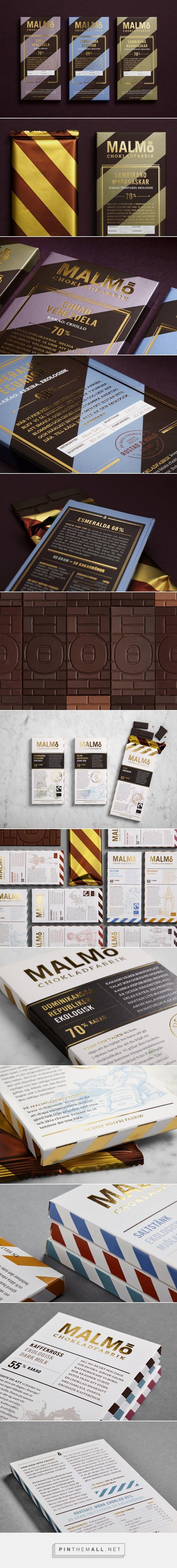 Malmö Chokladfabrik Chocolate packaging design by Pond Design - http://www.packagingoftheworld.com/2017/06/malmo-chokladfabrik-redesign.html