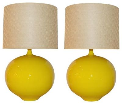 Yellow lamps. Thinking of painting my current red lamps.