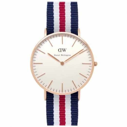 Daniel Wellington Ladies Classic Canterbury Rose 36mm Watch 0502DW
