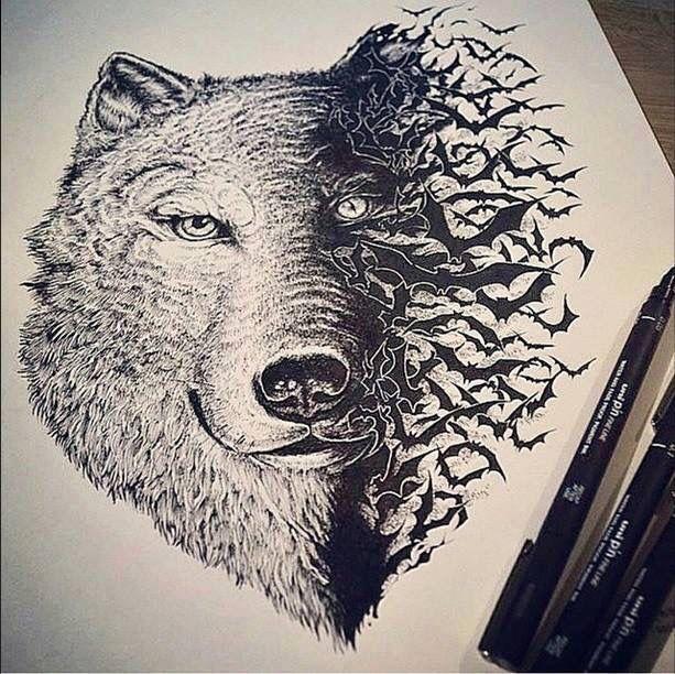 how to draw a wolf spirit dragoart