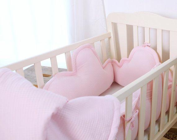 Crib bumper/cradle bumper, baby cot bumper, #housewares #pillow @EtsyMktgTool http://etsy.me/2y2YaIF #babygirlbumper #twinsgift #cotbumper