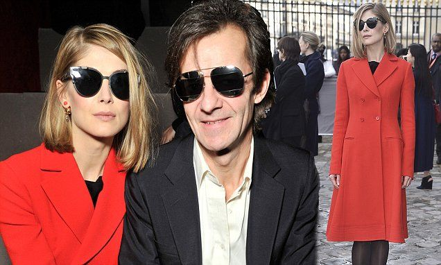 Rosamund Pike joined by long-term boyfriend Robie Uniacke, 54 at PFW