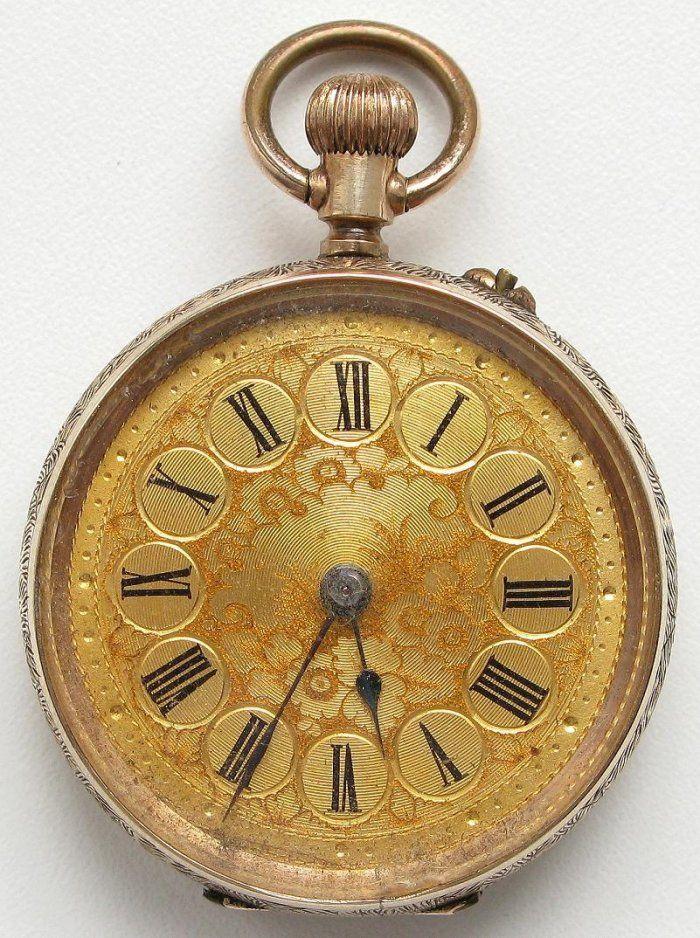 На этой страничке представлены золотые карманные часы и часы-кулоны.
