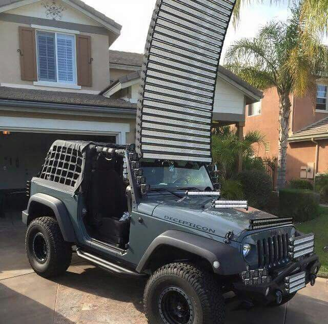 Jeep Decepticon Light Bars