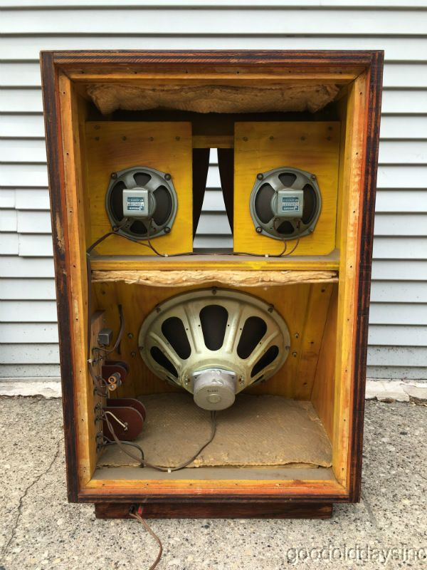 details about vintage 1960 39 s jensen speakers in large speaker cabinet custom karlson coupler. Black Bedroom Furniture Sets. Home Design Ideas