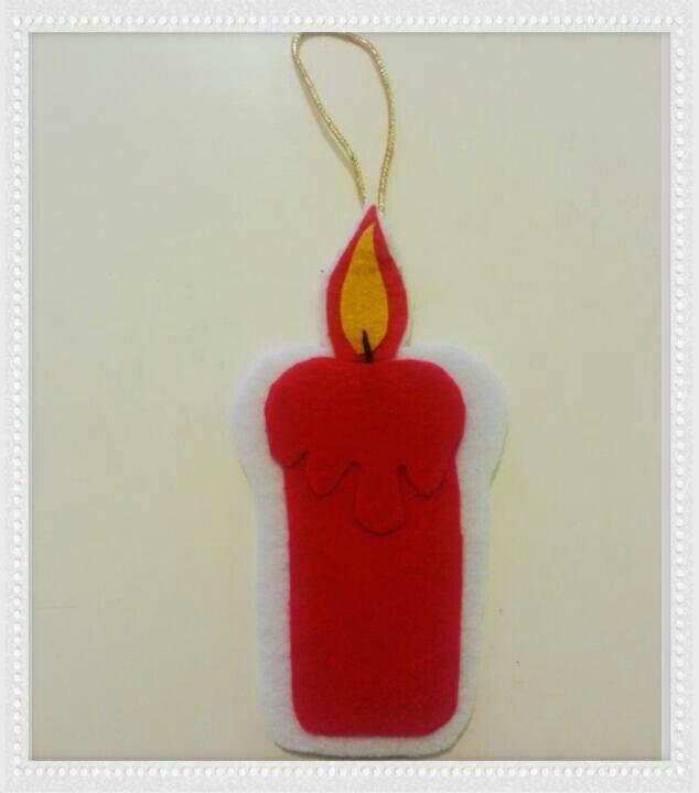 Mum #candle #felt #christmasdiy