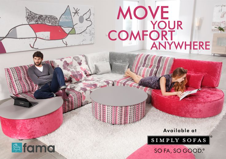 Fama - Arianne Love comes with round footstools, a corner piece and tables with lifting top. Individual sections of the sofa can be rearranged at will. Visit: http://www.simplysofas.in/fama-fabric-sofas.php ‪#‎Fama‬ ‪#‎SimplySofas‬ ‪#‎Furniture‬ ‪#‎Sofas‬ ‪#‎ArianneLove‬
