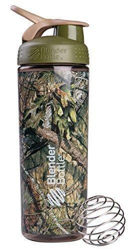 BlenderBottle SportMixer Sleek Shaker Bottle Mossy Oak Camo 28-Ounce
