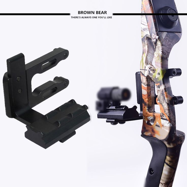 Archery CNC Bow Sight Scope Picatinny Bracket Mount For Hunting Red Dot Laser Sight Reflex Sight Fits Compund Bow Recurve Bow
