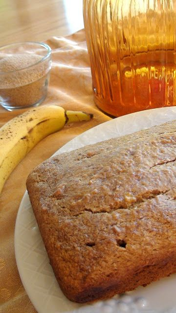 Banana Teff Bread with no added oils or fats