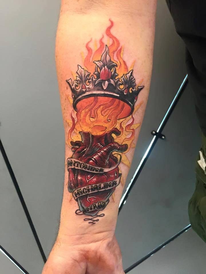 forearm tattoo, 77ink