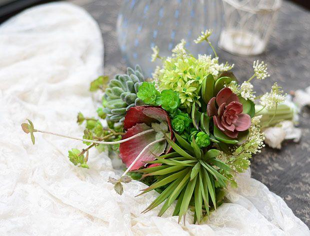 Bryllup Blomster-sukkulenter bukett sammenkomster simulering blomst falsk blomst boutique bryllup bruden holder blomstene blomsteroppsats