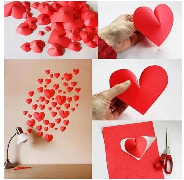 Pop up heart diy
