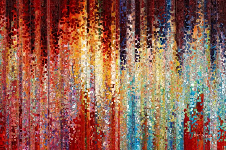 Embellished Print on Canvas red - Google Search