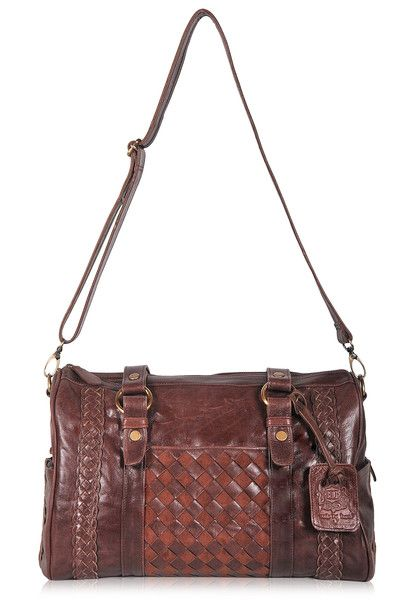 Bali ELF Haj Bag in Vintage Brown Balielf handmade leather carry-on bag, overnight bag, weekender, boho bag, gypsy bag