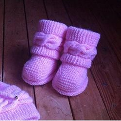 Boots style Uggs bébé tuto tricot facile