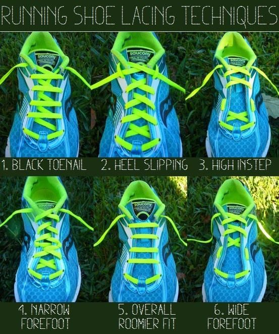 tricks of lacing to save you pain when running/training long distances