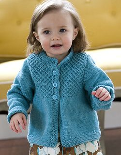Knit Smocked Baby Cardigan free pattern