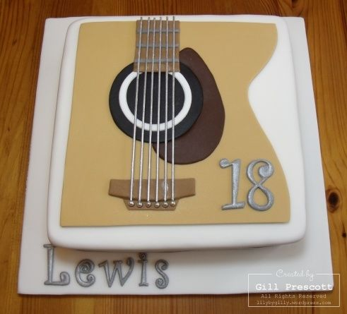 birthday cakes 18th birthday cake guitar cake birthday fun birthday ...