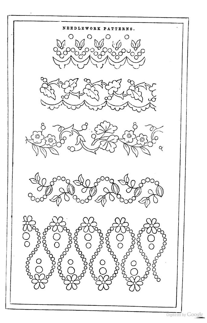 Needlework Patterns, 1850ish.