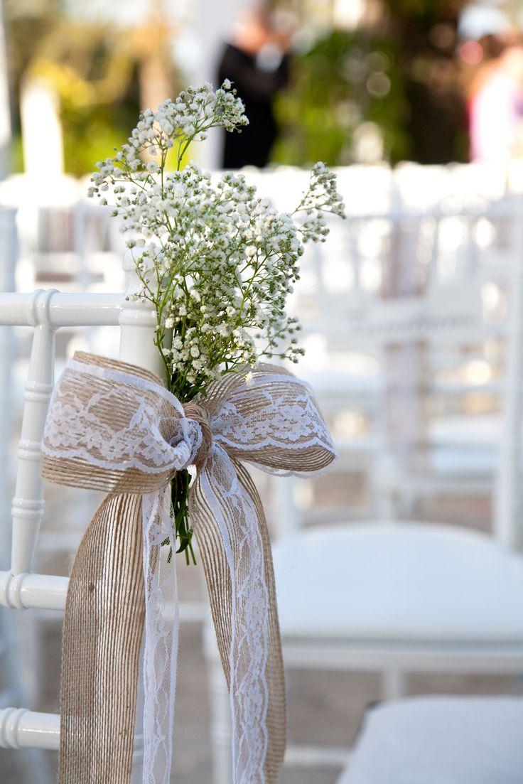 Lazos con saco y puntilla en la decoraci n de tu boda for Decorar con lazos