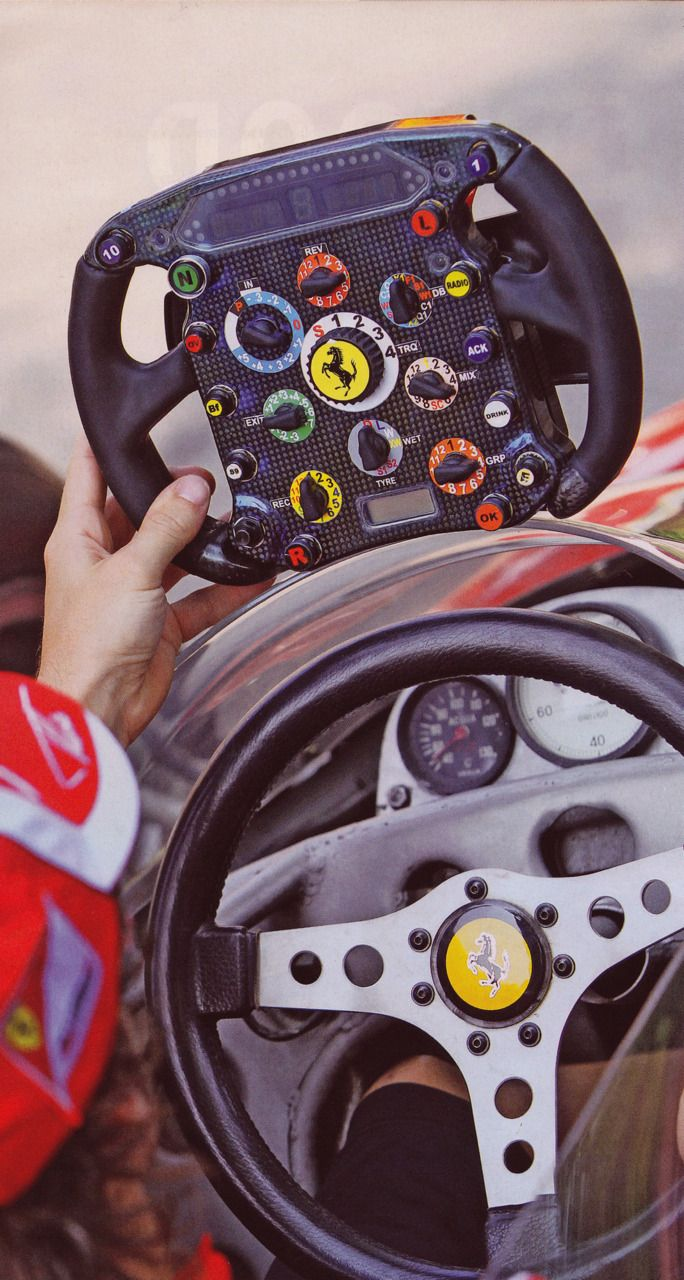 Then and Now - Ferrari steering wheels of 2008 and 1978
