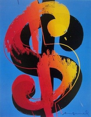 Dollar Sign, Offset Lithograph, Andy Warhol – Art Commerce