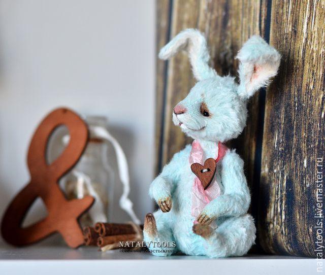 заяц Скай , кролик Тедди заяц бирюзовый цвет коллекционная игрушка - заяц, кролик