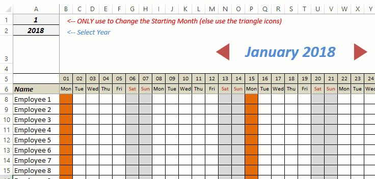 free excel leave tracker template  updated for 2019